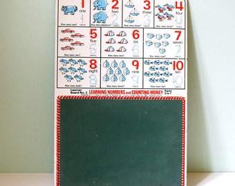 Beautiful vintage learning board