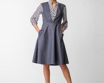 SALE 30%! Grey Wool Office Sunress
