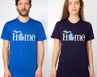 home michigan t-shirt - american apparel