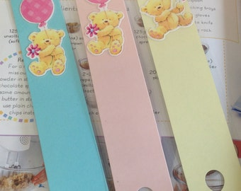 Bookmark, laminated bookmark, children's bookmark, children's gift, birthday gift, book accessory, set of 3