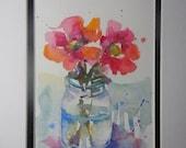 Flowers in Watercolor, watercolor flower, original watercolor, small watercolors