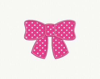 Bow Applique Machine Embroidery Design - 4 Sizes