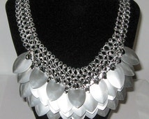 Scale Mail and Chain Mail Bib Necklace (European 4 in 1)