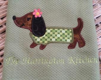 Adorable Hot Dog Applique Towel