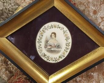 Vintage Diamond Framed Art (set of 3)