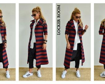 Striped wool coat | Etsy
