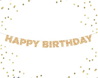 Happy Birthday Glitter Banner | Birthday Party | Photo Booth | Backdrop | Photo Prop