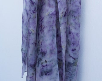 silk scarf hand dyed with natural dyes