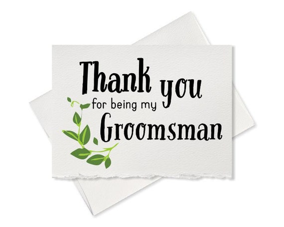 thank you for being my groomsman thank you card wedding best