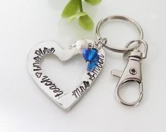 Teacher Appreciation Gift - Personalized Teacher Keychain - Teacher Gift for Her - Teach Love Inspire - School Spirit Keychain for Teacher