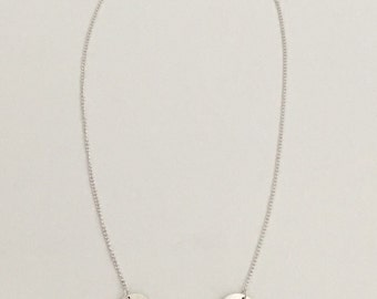 Four circles necklace, fine silver with sterling silver chain