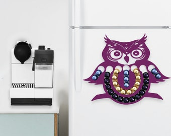 Large Purple Owl Nespresso Capsule Holder, Coffee Pod Storage, Owl Lover Gift, Halloween Kitchen Owl Decor Fall Owl Theme, Coffee Lover Gift