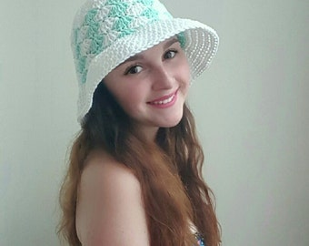 Simple Shells Floppy Sun Hat Crochet Pattern *PDF FILE ONLY* Instant Download