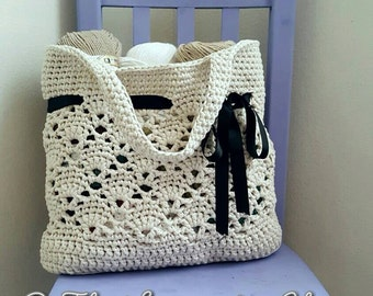 Vintage Market Tote Crochet Pattern *PDF DOWNLOAD ONLY* Instant download