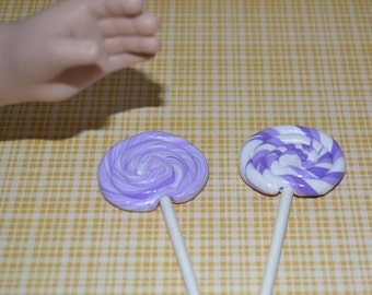 "Grape lollipop for 18"" dolls such as American Girl and My Generation"