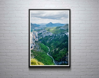 France Photography, Gorges Du Verdon, French Scenery, Provence, France, Mountain Print, Wall Art, Home Decor