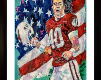 70% SALE - Pat Tillman Fine-Art LIMITED Edition Paper Print From an Original Hand-Painted (Not DIGITAL/Computer) Artwork By Winford
