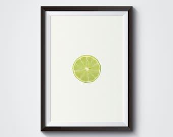 Lemon Wall Art Orange Print Art Print Lemon Kitchen Decor Lime Kitchen