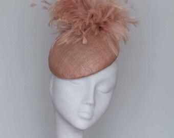 Latte Almond beret Fascinator Headpiece