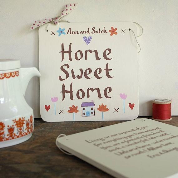nouveau cadeau maison pour un couple home sweet home signe. Black Bedroom Furniture Sets. Home Design Ideas
