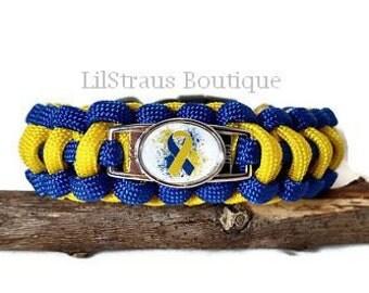 Children's Down Syndrome Awareness Paracord Bracelet - Handmade to Order