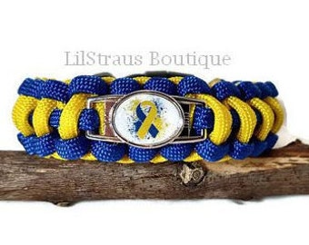 Down Syndrome Awareness Paracord Bracelet - Handmade to Order