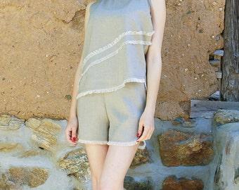 Linen Costume, Top, pants