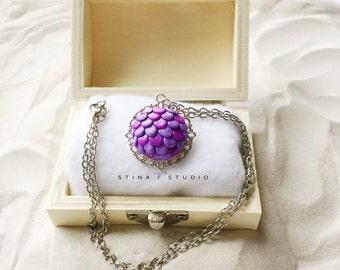 Purple Mermaid Scale Necklace, Mermaid Necklace, Mermaid Jewelry, Fantasy Necklace, Beach Jewelry, Mermaid Gifts, Mermaid Tail, Geek Gift