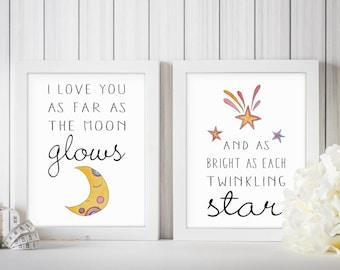 Gender Neutral Nursery Decor | Twinkle Twinkle Little Star Decor | Twinkle Twinkle Little Star Print | Star Baby Shower | Twinkle Shower