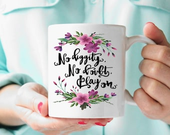 Mug Coffee Mug No Diggity No Doubt Play on 90s Song Lyrics Morning Motivation Gift for Boss White ceramic high quality made in usa unique