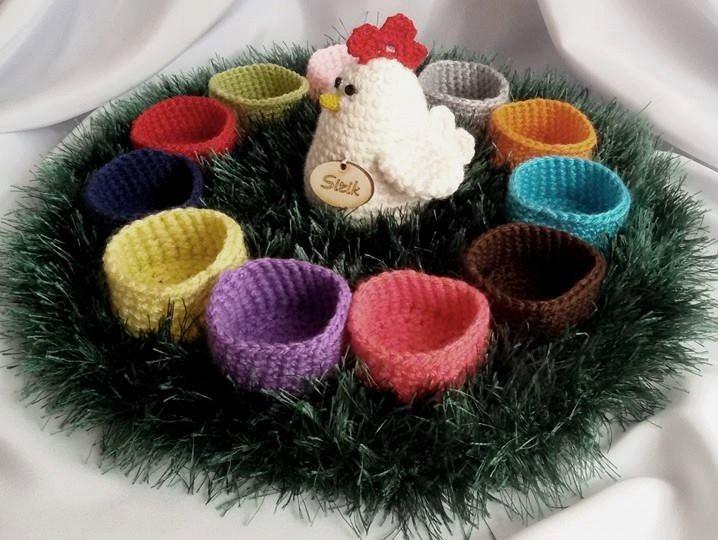 Knitting Easter Baskets : Crochet easter basket knit gift egg от