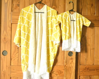 Mommy and toddler kimonos, mommy and me kimonos, mom and daughter outfits, mom and daughter swim cover up, matching kimonos, mom and baby,