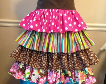 """Custom orders """"Layers of color Apron"""""""