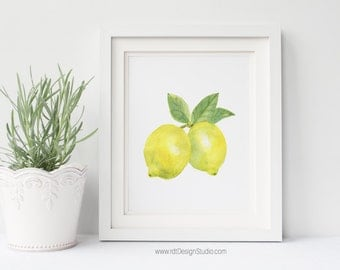 Lemons Print, Fruit Print, Home Decor, Printable Wall Art, Cadre, Birthday Gift, Christmas Gift, Instant Download, Digital Print, DT261