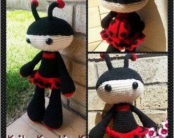 Crochet ladybug amigurumi crochet toy, doll, made to order, stuffed dolls, ladybug plus toy, stuffed animals