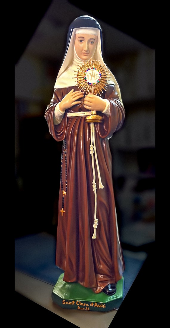"""St. Clare of Assisi 31"""" Catholic Christian Religious Statue"""