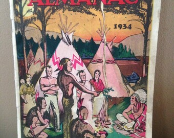 Antique 1934 Herbalist Almanac Paperback book