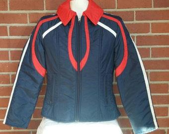 1980's ski jacket Ladies S-M Pedigree puffy jacket