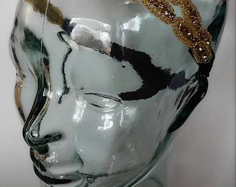 Gold Headband. Crystal Bridal Headband. Boho Headband.