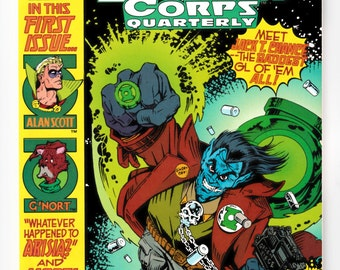 Green Lantern Corps Quarterly #1 #2 #3 Choice Near Mint DC Comics 1992 Superhero 64 Pages Vintage Comic Book Allen Scott and G'Nort Appear