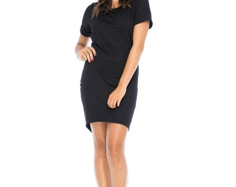 Black Bamboo T-shirt Dress
