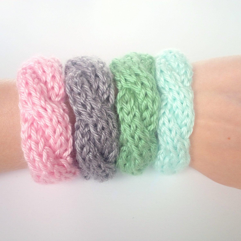 cable knit bracelets set of 2 knitted bracelet knit