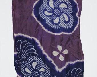 Blue Floral – Vintage Japanese Silk Scarf