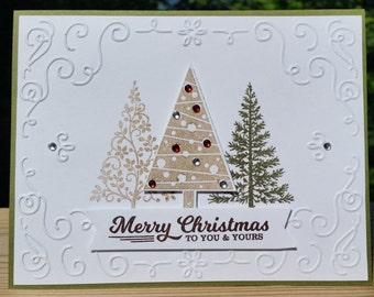 STAMPIN' UP! , Handmade CHRISTMAS Card Kit Festival of Trees