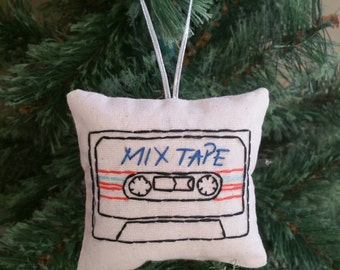 Mix tape cassette Christmas ornament