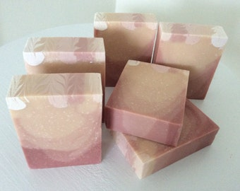 PINK GRAPEFRUIT SOAP...Moisturizing coconut milk soap with mango butter, honey, pink kaolin clay, grapefruit and sweet orange essential oils