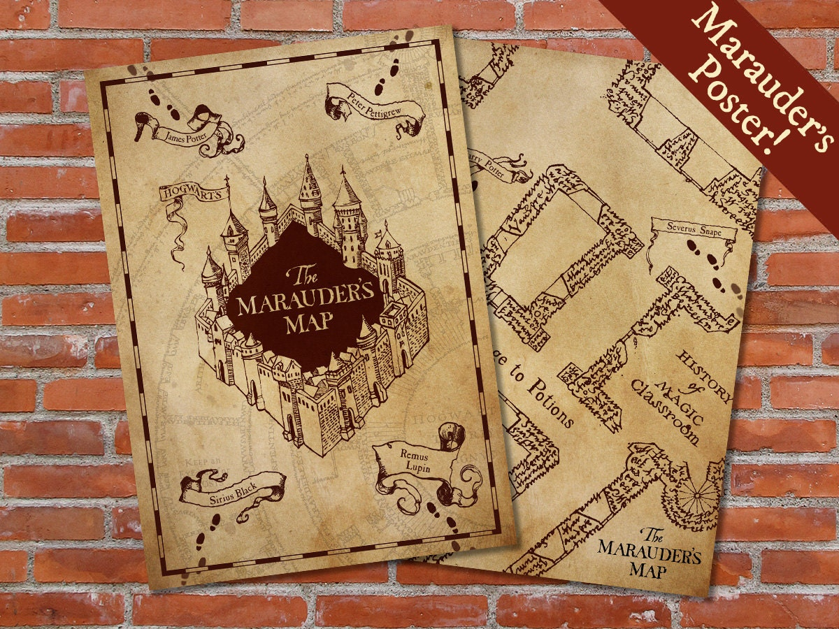 It's just a graphic of Ambitious Marauders Map Printable