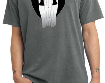 Men's Funny Shirt After Party Tuxedo Pigment Dyed Tee T-Shirt AFTERPARTY-PC099