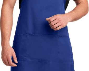 Men's Funny Apron More Cowbell Full Length Apron with Pockets COWBELL-A700