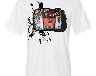 "Native American ""Shanto Zapap"" Warrior Indian Dancer Limited Edition Custom Ladies T-Shirt"